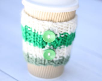 knitted coffee cozy, Coffee sleeves, coffee, tea cozy