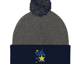 Wish Upon a Star Pom Pom Knit Cap