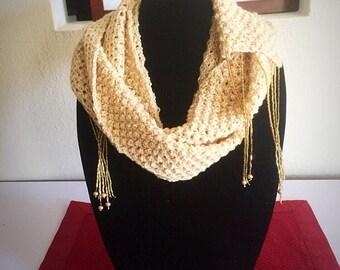 Gold Crochet Scarf
