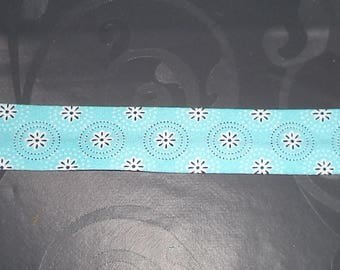 through the turquoise width 2.5 cm with folded edges made by me of superb quality