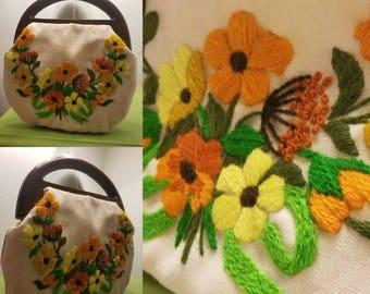 Vintage Embroiderd Purse