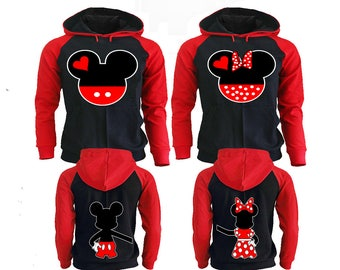 Mickey Minnie Couple Hoodies, Disney Couple Hoodies, Pärchen Pullover Couple Hoodies Mickey, Couple Hoodies King And Queen Couple Sweaters