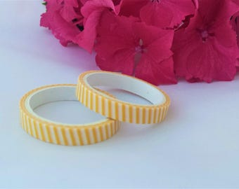Yellow & White Stripe Washi Tape