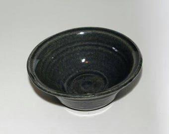 Handmade Blue Ceramic Dip Bowl | Quacamole Bowl | Handmade Pottery |