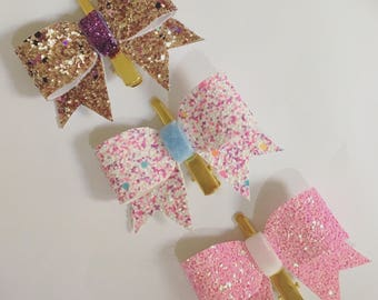 Set of three baby girl hair barrettes!
