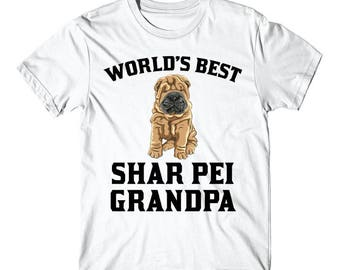 World's Best Shar Pei Grandpa Dog Graphic T-Shirt