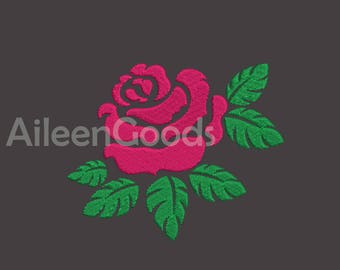 Rose Embroidery  design 7Size INSTANT download machine embroidery