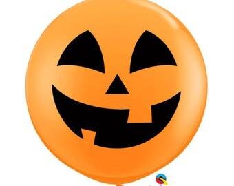 Pumpkin Balloon, Jolly Jackolantern Balloon, Halloween Balloon, Giant Halloween Balloon, Orange Balloon