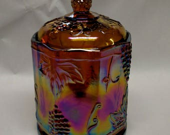 Carnival Glass Canister