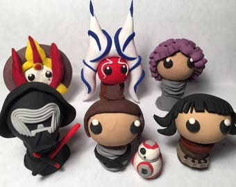 "Star Wars 2"" Polymer Clay Figures"
