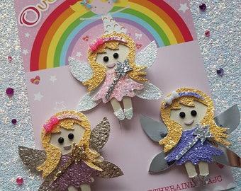 Fairy hair clip, hair clip, hair bow, fairies