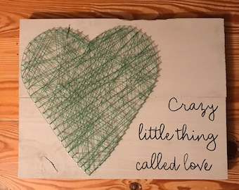 Crazy little thing called love string art