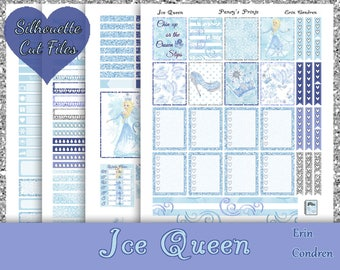 Ice Queen~Printable Erin Condren Stickers Printable Weekly Kit For The Erin Condren Life Planner with free Silhouette Cut Files