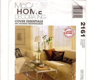 McCalls 2161, Furniture Slip Covers, Furniture Cover, Home Decor, Sewing Pattern, Slipcover, Sofa, Couch, Chair, Accent Pillows