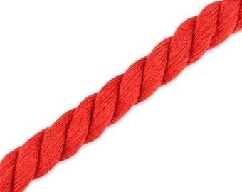 1 m cotton cord red 10 mm