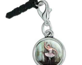 Ballerina Painting Mobile Cell Phone Headphone Jack Anti-Dust Charm fits iPhone iPod Galaxy