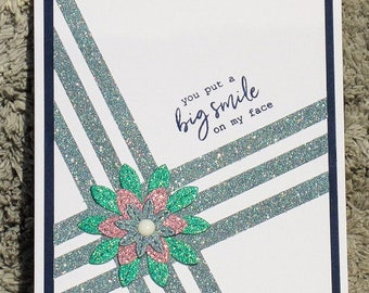 Big Smile card, thank you cards, friendship cards, cards with flowers, general cards, any occasion cards, cards to make you smile,