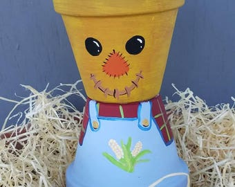 8 inch scarecrow pot people