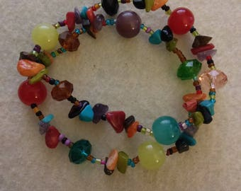 Multicolor Beaded Bracelet Set