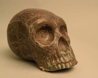 Black and Green Skull