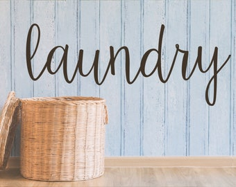 Rustic Laundry Decal - Farmhouse Laundry Decal - Laundry Room Decor Decal - Laundry Door Decal -