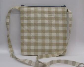Fabric crossbody bag, zipper purse, sling bag, gifts for her