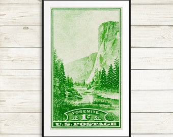Yosemite, Yosemite National Park, National Park Service, El Capitan, NPS, Yosemite poster, national parks, USA national parks, Yosemite art