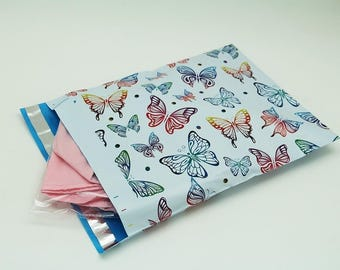 10 - 6x9 Butterfly Designer Poly Mailers Envelopes Boutique Custom Bags self seal