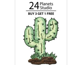 Cactus Iron on Patch by 24PlanetsStudio
