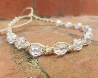 hemp necklace, hemp choker necklace, beach jewelry, hippie jewelry, summer necklace, macrame jewelry, boho jewelry, gypsy, teen girl gifts