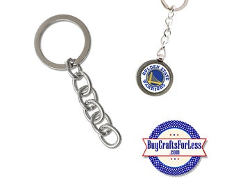 KEY RiNG with chain, Key Chain, Silver finish- 3 SETS  +Discounts & FREE Shipping*