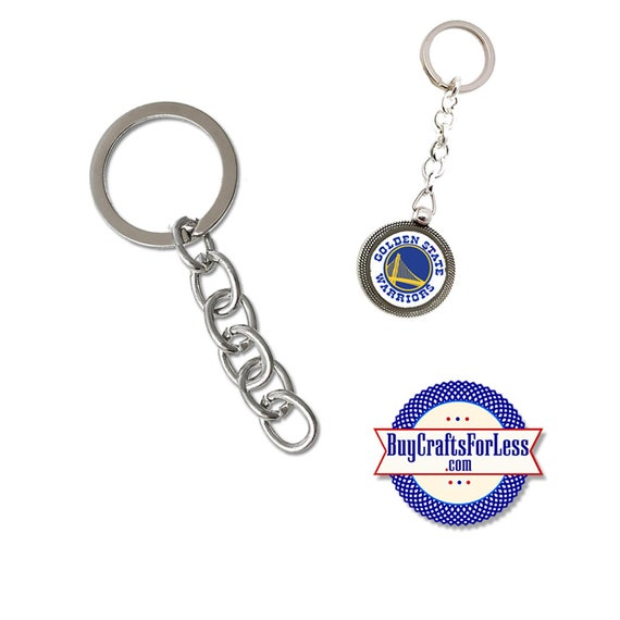 KEY RiNG with chain, Key Chain, Silver finish- 2 SETS  +Discounts & FREE Shipping*