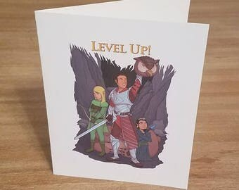 DnD Milestone Card - Use for achievements like level up, successful campaigns, or +Exp! in Dungeons and Dragons or Patherfinder RPGs