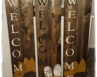 Wooden WELCOME Porch Sign| Rustic Welcome Sign | Farmhouse Welcome Sign |  Welcome Sign | Farmhouse Décor | Welcome porch sign|porch Decor