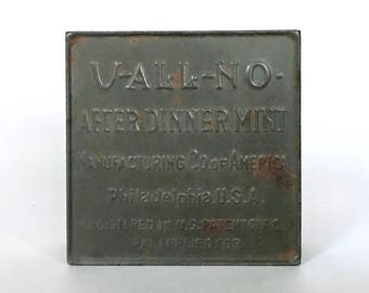 V-ALL-NO after dinner mints tin box