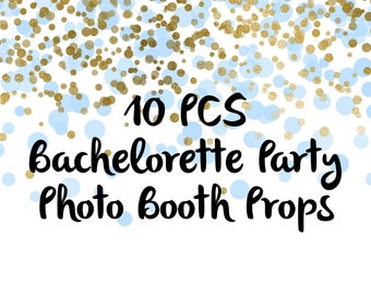 10PCS Bachelorette Photo Booth Props, Party Props, Photo Booth Props, Party Supplies, Party Decor, Party, Photo props, Bachelorette Party