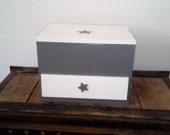 Baby grey and white gift box