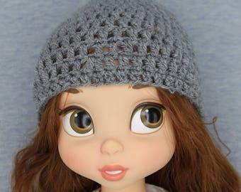Cute grey hat beanie for Disney Animator Doll