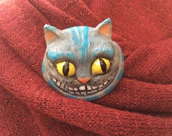 The Cheshire Cat Brooch cat brooch