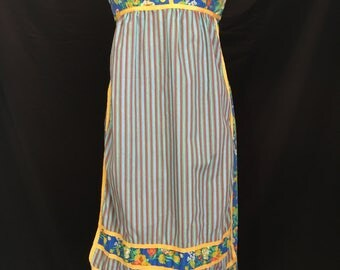 Adorable 70's Jonathan Logan Hippie Apron Dress