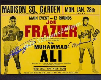 Muhammad Ali Joe Frazier photo signed autograph Framed Poster
