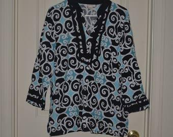 20% off Jennifer Moore JM Collection 3/4 Sleeve Long Sleeves V-Neckline Women's Clothing Blouse Tunic Size 14