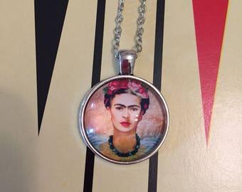Frida Kahlo necklace / Fantastic Frida Kahlo pendant/Frida Kahlo pendant / famous artist jewellery / famous art jewelry/ Mexican Artist