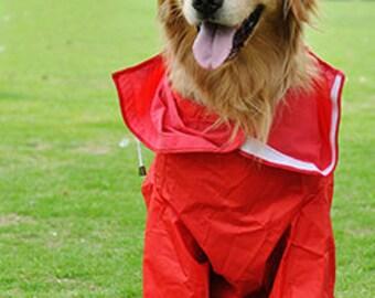 Dog Outdoor Raincoat Blue Red Dog Clothes Dog Coat Dog Clothing