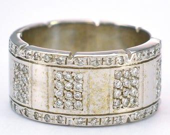 14kt White Gold Diamond All Around Ring