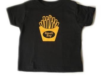 Cute kids shirt, small fry black