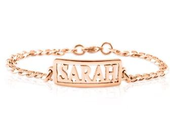 Rose Gold Name Bracelet, Gifts for Mum, Gifts for Her, Mother Daughter Gifts, Personalised Bracelet, Rose Gold Bracelet ONLY 49