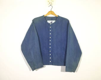 Vintage Hai Sporting Gear Denime Jacket Issey Miyake Design Rare