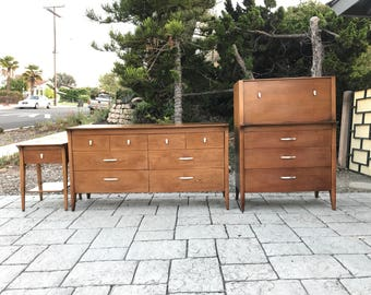 SOLD ~ Drexel Profile Bedroom Set Dresser Highboy Nightstand
