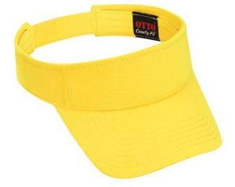 OTTO Comfy Cotton Jersey Knit Sun Visor (Color-Maize)
